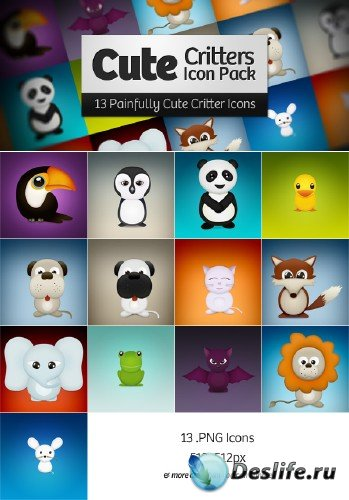Cute Critters Free Icon Pack