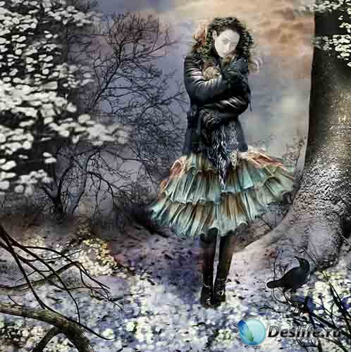 Костюм для фото - Девушка в зимнем лесу