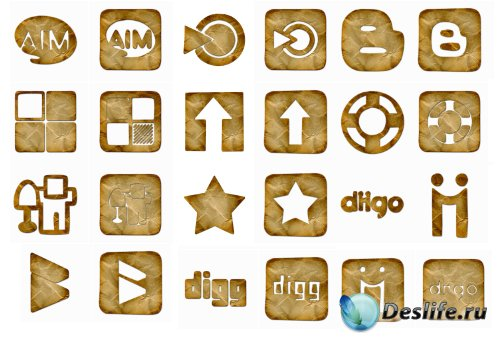 Сrumpled PNG Icons