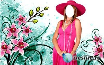 Костюм для фотошопа - Дама в шляпке