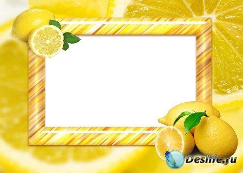 Рамка для фотошоп – Лимонная