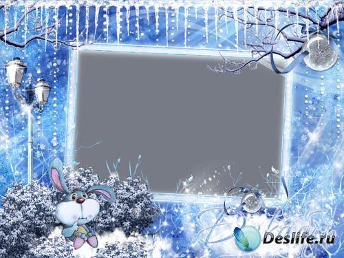 Зимняя рамка  для фото «Декабрь»