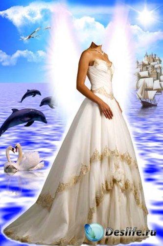 Костюм для фото - Ангел на воде