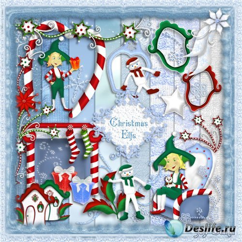 Christmas Elfs - Скрап набор
