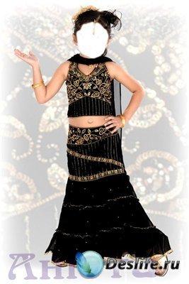 Костюм для фотошоп - Девочка в платье