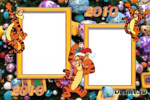 Новогодние рамки для фотошопа - Тигра