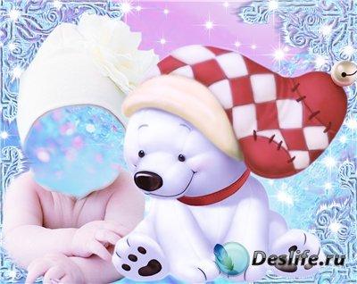 Детский костюм для фотошопа с медвежонком