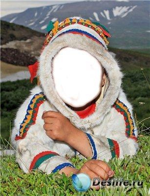 Детский костюм для фотошоп - Индеец
