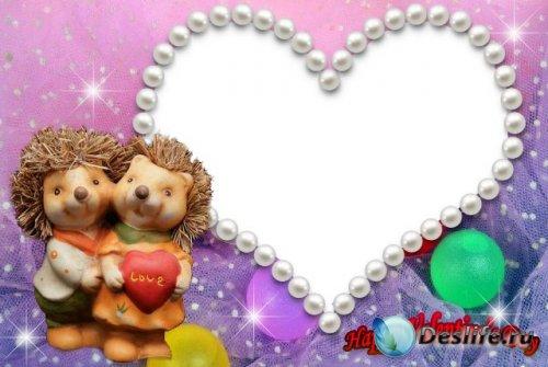 Рамка для фотошопа - Happy Valentine's Day