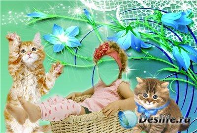 Детский костюм для фотошопа - С котятами