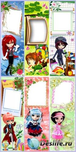 Закладки для книг с рамкой для фото - Для девочек