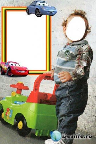 Костюм для фотошопа - Мальчик с машиной
