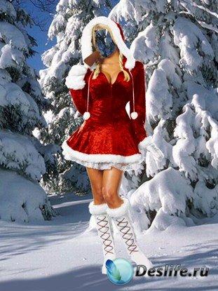 Костюм для фотошопа - Снегурочка