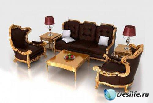 3d набор классической мебели