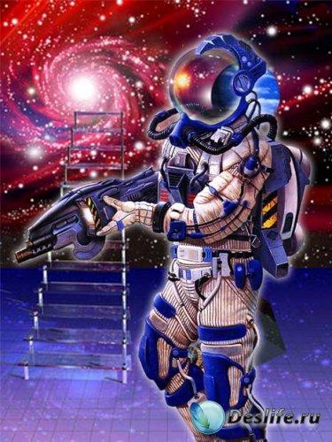 Шаблон для фотошапа – Космический воин