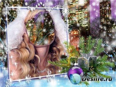 Рамка для фотошопа - Зима