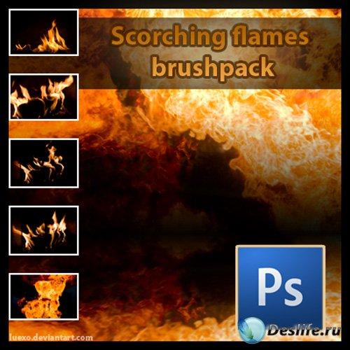Кисти для фотошопа с огнем и взрывами (Scorching Flames Brushpack)