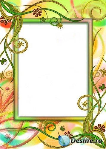 Рамка для фотошопа – Дивные растения