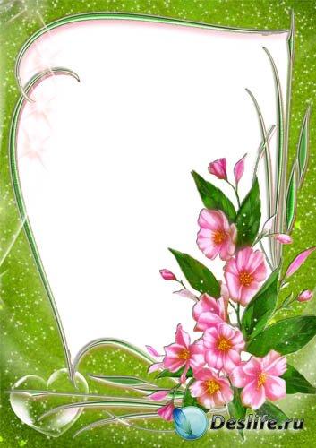 Рамка для фото - Розовые цветы