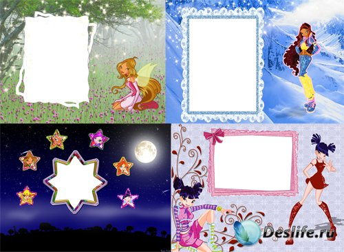Детские рамочки для фотошопа - Винкс (Winx)