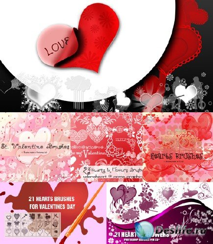 Hearts Brushes Pack