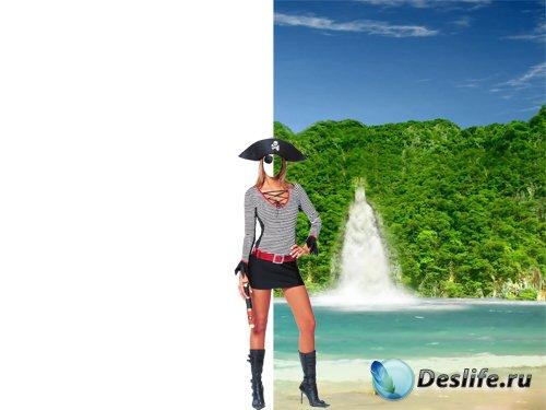 Костюм для фотошопа – Девушка-пиратка