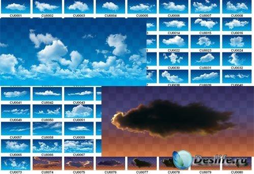 Растровый клипарт - Облака с прозрачностью