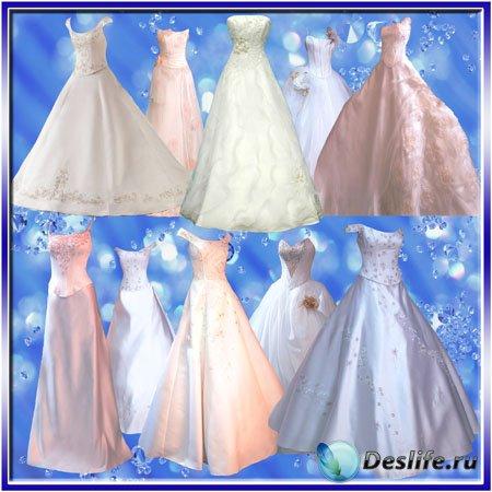 Клипарт - Яркие и красивые платья для свадьбы