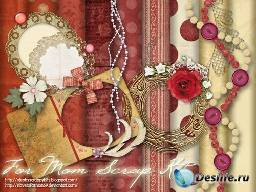 Скрап-набор - For Mom Scrap Kit