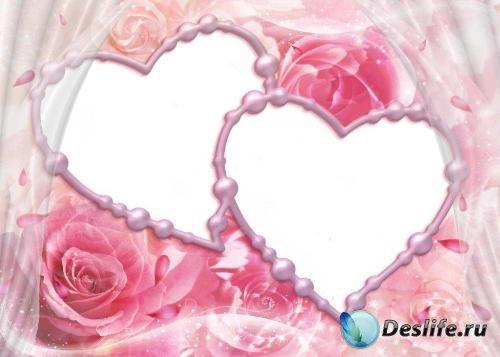Рамка для фотошопа – Любящие сердца