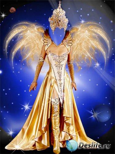 Красивый костюм для фотошопа – Королева космоса