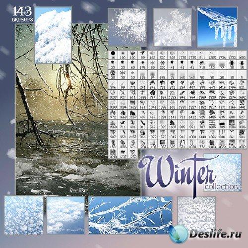 Зимняя коллекция кистей для фотошопа (Rons Winter Brushes Collection)