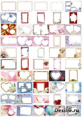 Сборник Свадебных рамок для фотошопа