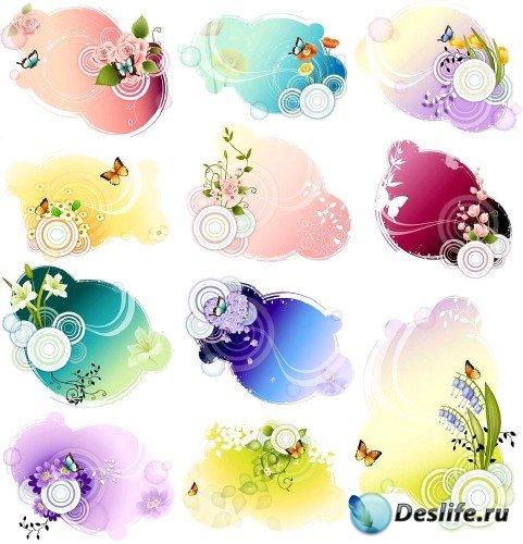 Коллекция романтических векторных цветов