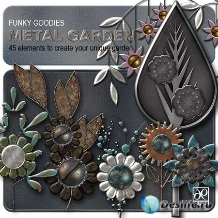 Скрап-набор - Funky goodies Metal Garden