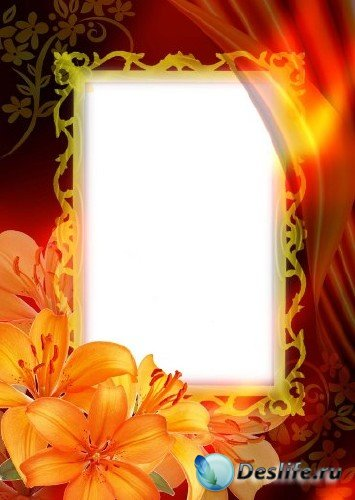 Рамка для фотошопа – Фантазия с лилиями