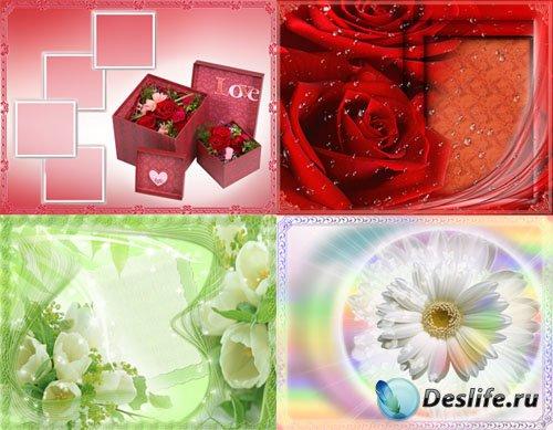 Романтические фоны для оформления
