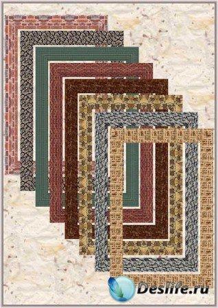 Подборка Фоторамок из текстурных узоров