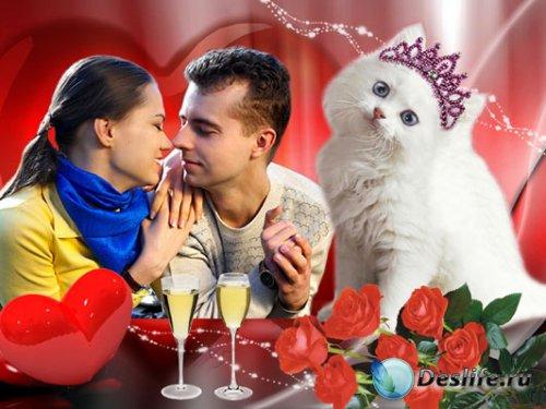 Рамочка для фотошопа – Незабываемый Валентинов день