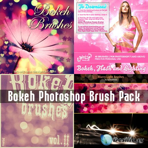 Bokeh Photoshop Brush Pack