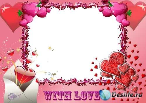 Рамка для фотошопа - Это любовь