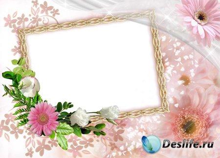 Рамка для фотошоп – Нежность цветов