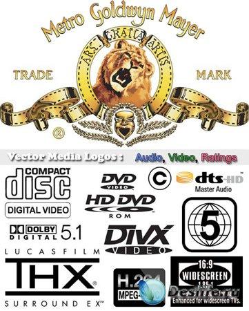 Клипарт - Логотипы DVD, видео, аудио, рейтинги