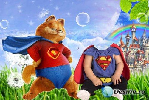 Детский костюм для фотошопа - Маленький супермен