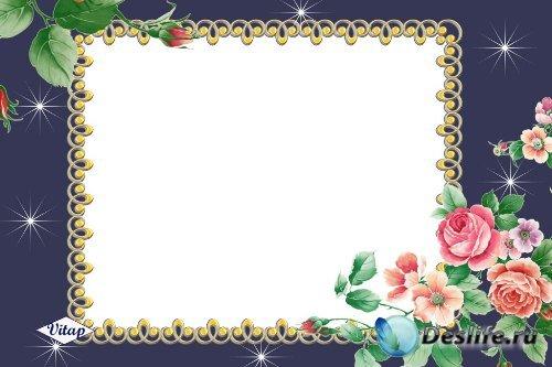Рамка для фотошоп – Ночные розы