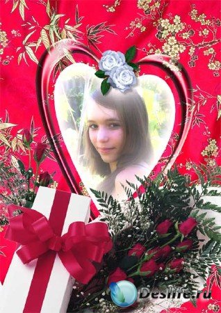 Рамка для фотошопа розы в подарок