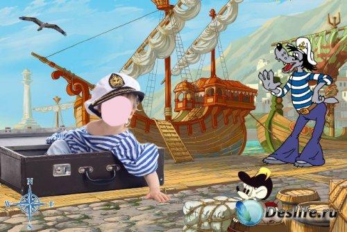 Детский костюм для фотошопа - Маленький морячок