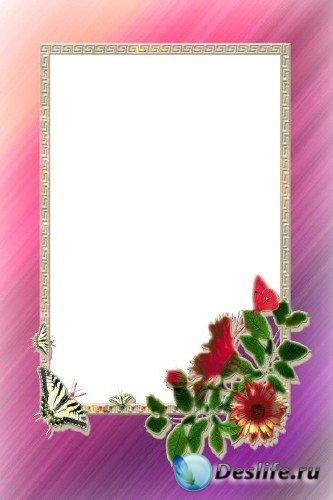 Рамка для фотошоп – Фиолетовое свечение