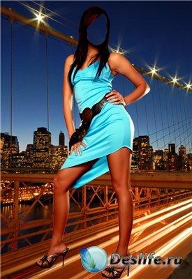 Женский костюм для фотошопа - Ночной Нью-Йорк