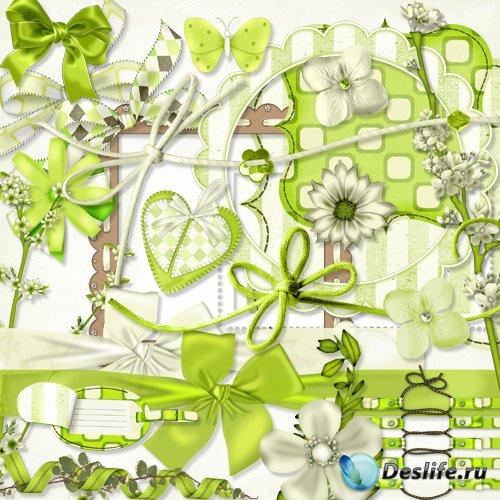 Cкрап-набор – Восхитительное зеленое конфетти